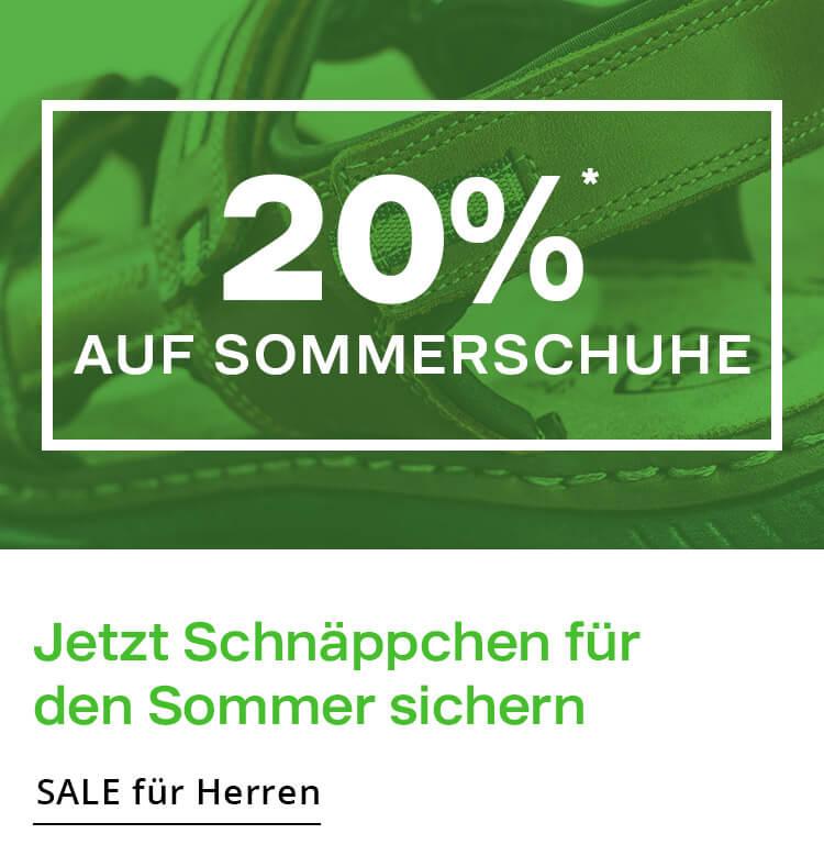 20% auf Sommerschuhe