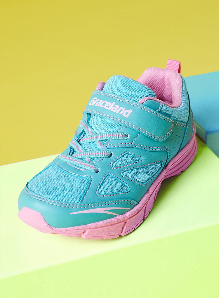 Blau-rosa Graceland Kinder Sneaker