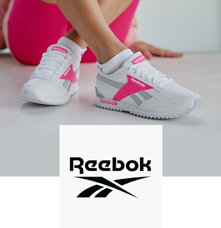Weiss-pinke Sneaker von Reebok