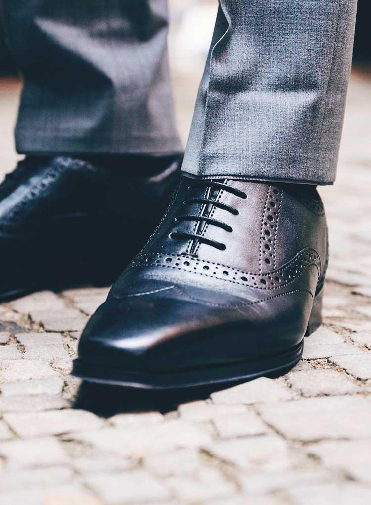Schwarze festliche Anzugschuhe