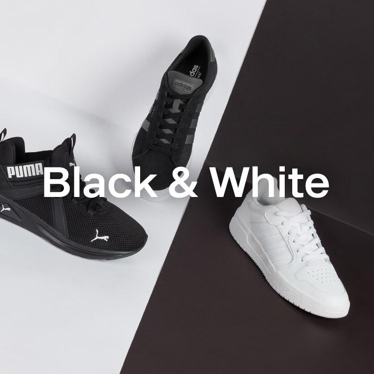 Schwarze und weisse Sneaker