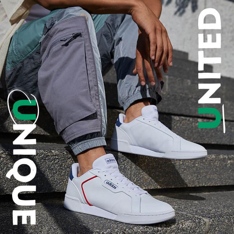 Weisse adidas Sneaker