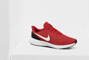 Roter Sportschuh