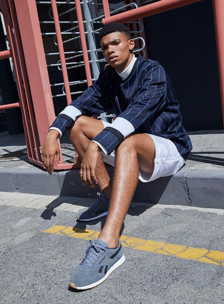 Graue Reebok Sneaker