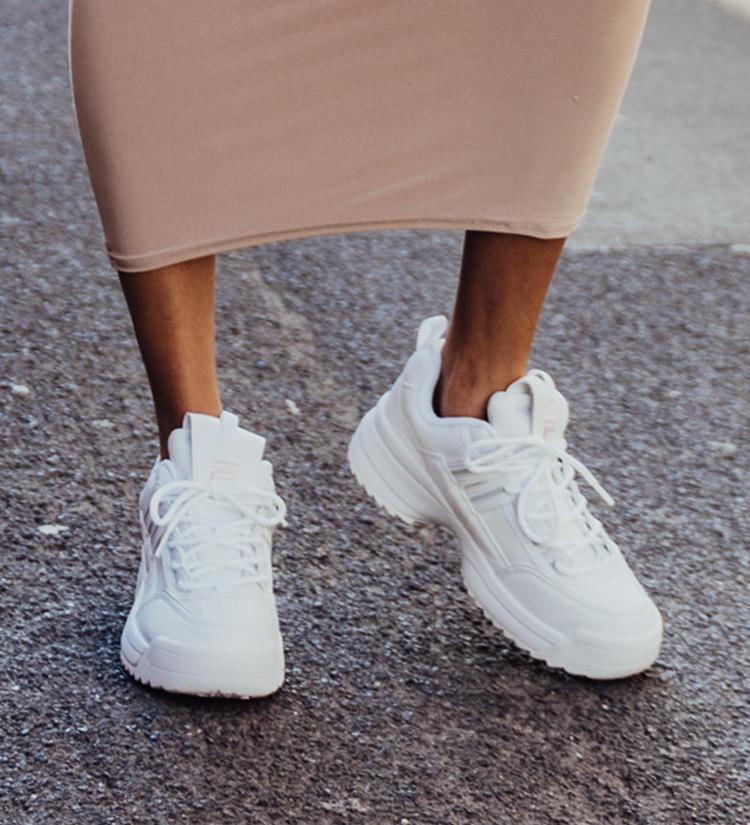 Weisse Chunky Sneaker