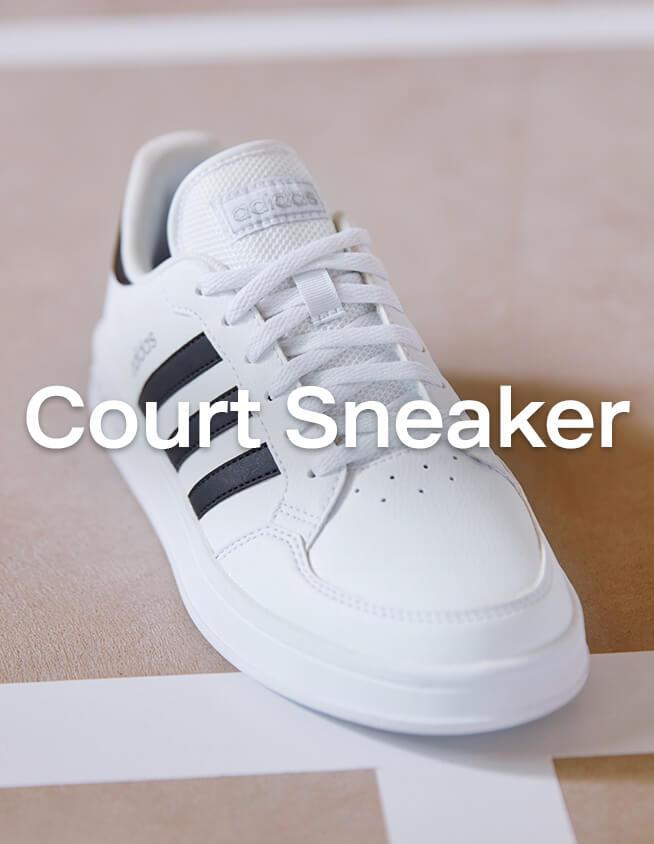 Weiße Court Sneaker
