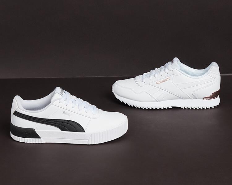 Schwarz-weisse Sneaker