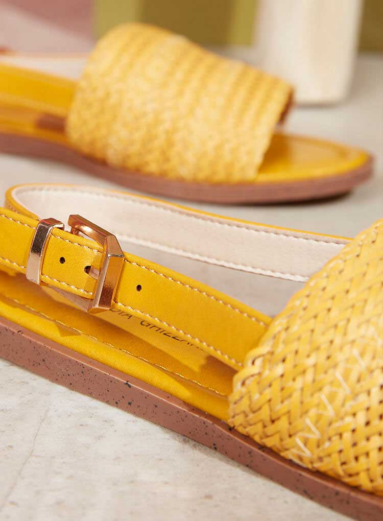 Gelbe Damen Sandale