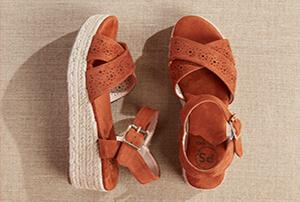 Damen Schuhe mit Schnalle im Natural Look