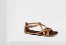 braune Leder Sandale