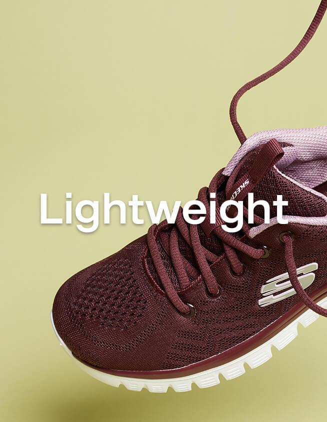 Dunkelrote Lightweight Sneaker von Skechers