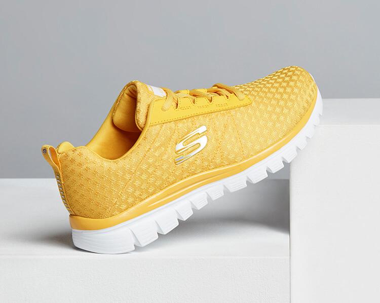 Gelbe Sneaker von Skechers